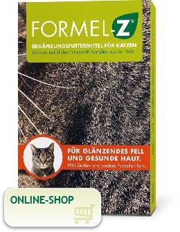 Formel Z Ergänzungsfuttermittel für Katzen Spar-Set 2x125g (104 Tabletten). Für glänzendes Fell und gesunde Haut. Hält Zecken und Parasiten fern. Biokanal Pharma GmbH