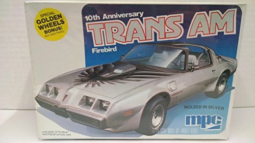 10th Anniversary Car - MPC 1-0741 1979 10th Anniversary Trans Am Firebird 1:25 Scale Plastic Model Kit - Requires Assembly