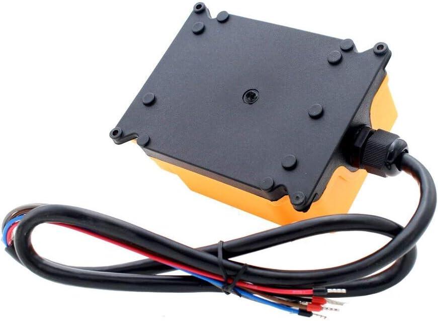 OBOHOS 12V 24V 220V 380V HS-4 4 Channels 1 Speed Control Hoist Industrial Wireless Crane Radio Remote Control System Color: AC110V