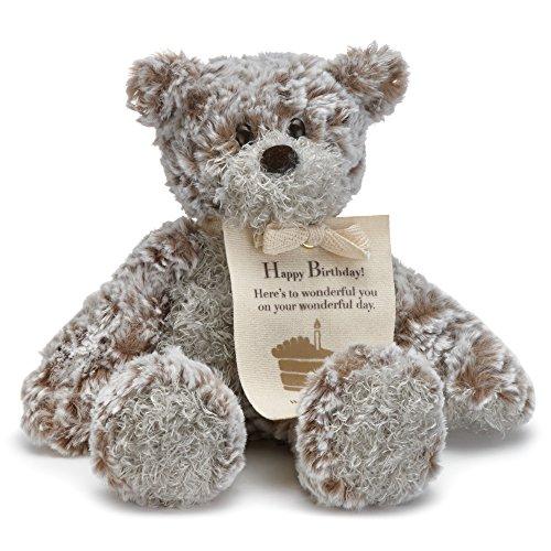 DEMDACO Happy Birthday Mini Giving Bear Children's Plush Stuffed Animal Toy