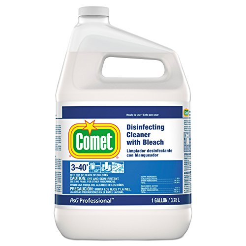 Comet Disinfecting Cleanser - Comet Professional Disinfecting Cleaner with Bleach, 1 Gallon (Case of 3)