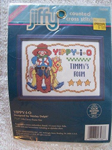 Cross Stitch Jiffy Kit Counted (Yippy-I-O Counted Cross Stitch Kit)