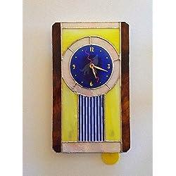 Blue Coyote Glass Wall Clock
