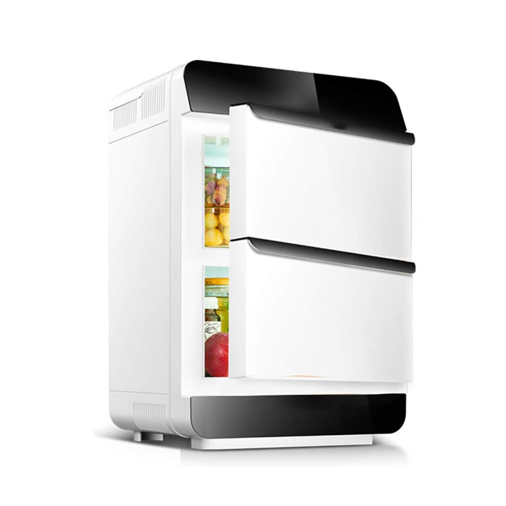 GUGULU Mini Fridge Electric Cooler and Warmer (28 Liter): AC/DC Portable Thermoelectric System (Two-Door)