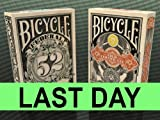 Lot of 2 Bicycle Federal 52 & Gold Certificate Playing Cards Decks Sale Rare New Sealed