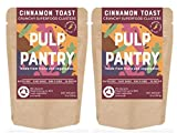 Cinnamon Toast Superfood Clusters by Pulp Pantry | Gluten-Free | Nut-Free | Paleo | Plant-Based | Prebiotic | High Fiber | Made With Fruits & Veggies | 5 oz, 2-Pack
