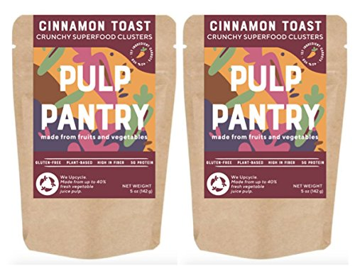 Cinnamon Toast Superfood Clusters by Pulp Pantry | Gluten-Free | Nut-Free | Paleo | Plant-Based | Prebiotic | High Fiber | Made With Fruits & Veggies | 5 oz, 2-Pack by Pulp Pantry