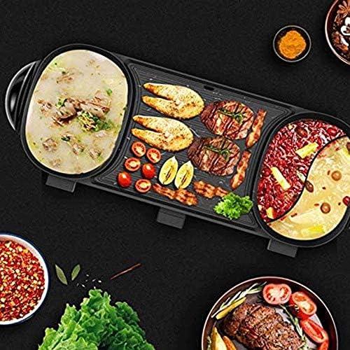 XWX Ménage Non Fumée Barbecue Pan Frying Friture Grande Capacité Antiadhésive 10 Personnes