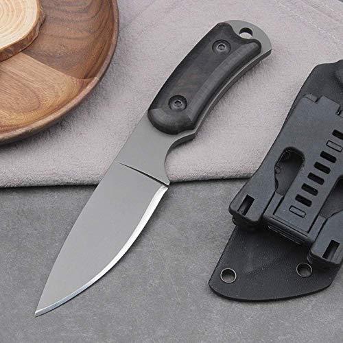 Kurzes feststehendes Messer Kleines taktisches Messer Campingmesser Gerades Messer Outdoor Jagdmesser G10 Griff mit…