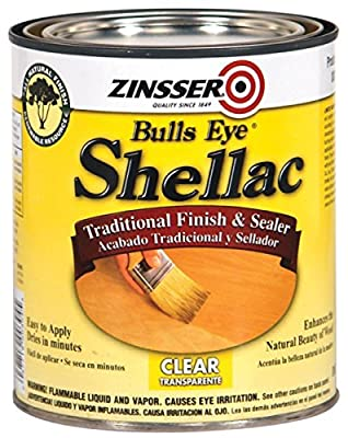 Rust-Oleum 316 Bulls Eye Clear Shellac, 1/2-Pint