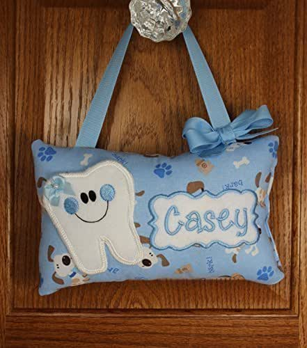 Amazon.com: Personalized tooth fairy pillow, dog pattern