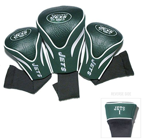 New York Jets Golf Club 3 Piece Contour Headcover (Jets Headcover)