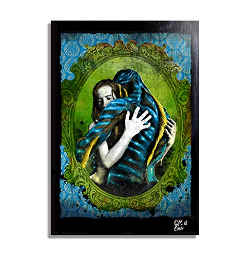 The Shape of Water (Guillermo Del Toro, 2017) - Pop-Art Original Framed Fine Art Painting, Image on Canvas, Artwork, Movie -