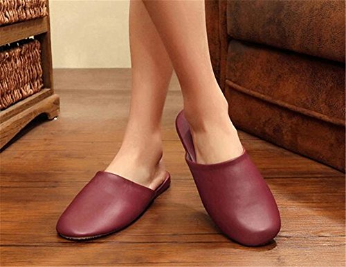 Femme Wine pour Women Red TELLW Chaussons ZfYaFn