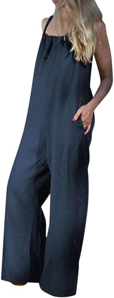 Peto Pantalones de Peto para Mujer STRIR Mujer Baggy Peto Chicas Mono Largo Pantalones Harem Anchos Talla Grande Casual Moda Bolsillos Tiras Fiesta: Amazon.es: Ropa y accesorios