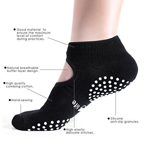 Abc Life Yoga Socks Silicone Non Slip Skid Grip Cotton For