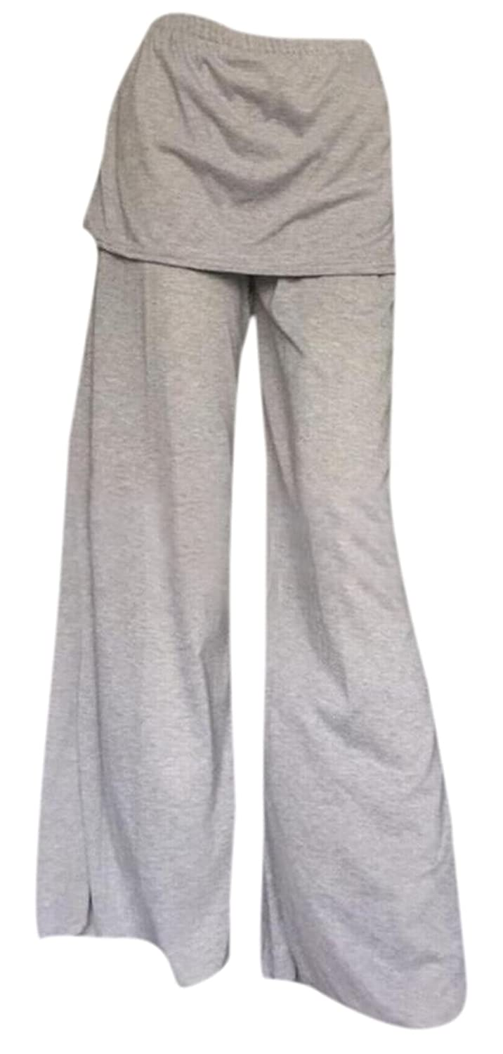 Comfy Women Bell Bottom Stylish Wild Solid Palazzo Pants Leg Pant