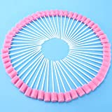Healifty Disposable Oral Care Swabs, for Oral Cavity Cleaning Sponge Swab 200pcs (Pink)
