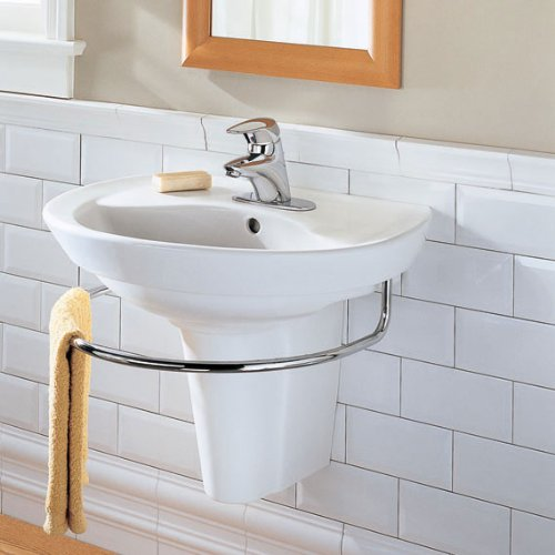 Attrayant American Standard 0268.144.020 Ravenna Wall Mount Pedestal Sink With Center  Hole, White   American Standard Wall Mounted Bathroom Sink   Amazon.com
