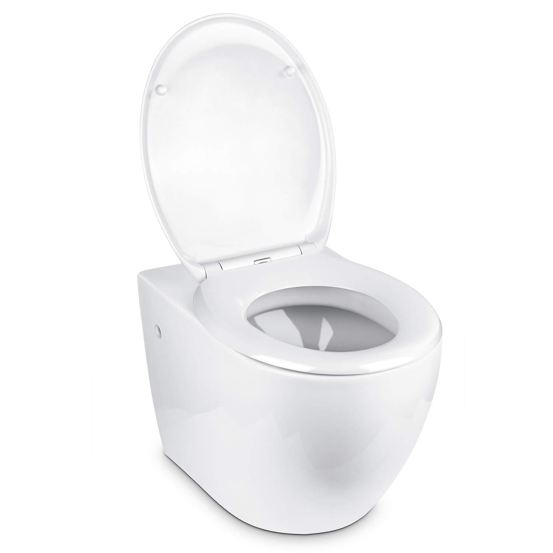 Amzdeal Riduttore WC per Bambini Toilette Trainer con Cuscino Tenero Modello per Bambini da 1 a 7 anni Sedile Universale da Vasino con Scaletta Pieghevole Regolabile