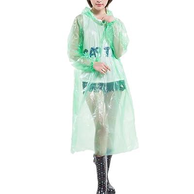 Zhhlinyuan 良質 Outdoor Disposable Waterproof Raincoat Unisex Environment Raincoat
