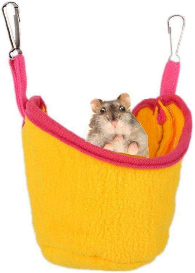Fliyeong Premium-Qualit/ät warme Hamster Schlafen Eimer K/äfig h/ängen Eichh/örnchen H/ängematte Heimtierbedarf