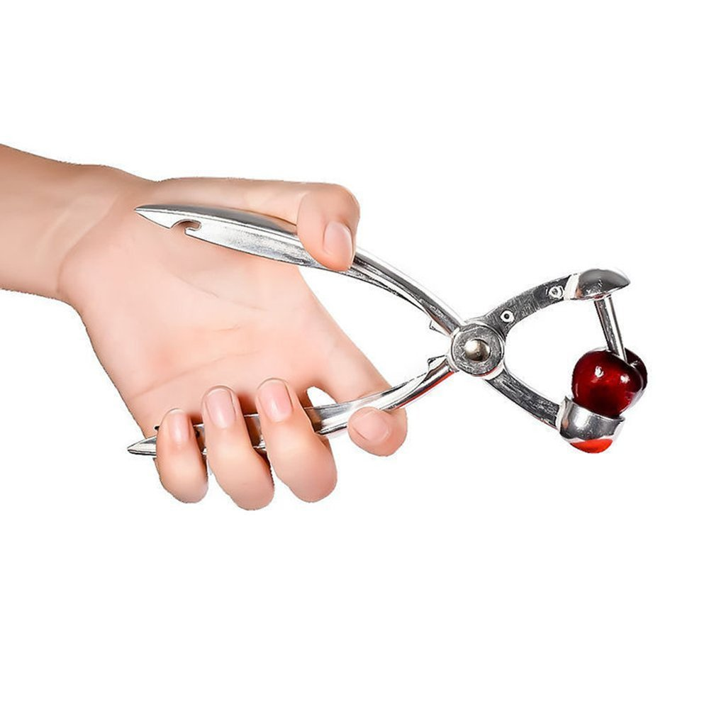 Aluminum Alloy Olive Pitter Tool Cherry Stoner MyLifeUNIT Olive and Cherry Pitter