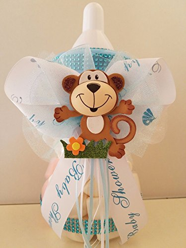 Baby Shower Monkey Centerpiece Bottle Large 12'' Piggy Bank Table Decorations by Product789