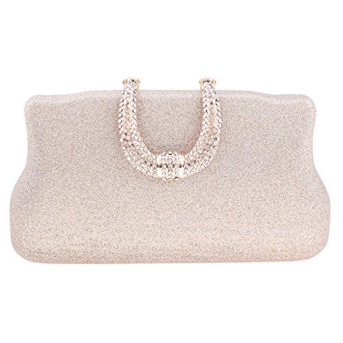 Shoulder Fashion Bags Baoblaze Champagne Shining Clutch Messenger Women Tote Chain Purse Crossbody Handbag 8wwAz5q