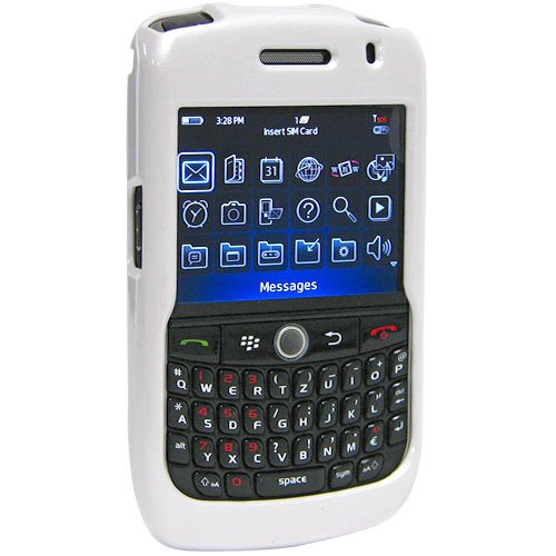 Amzer Snap-On Case for BlackBerry Curve 8900 - Polished White