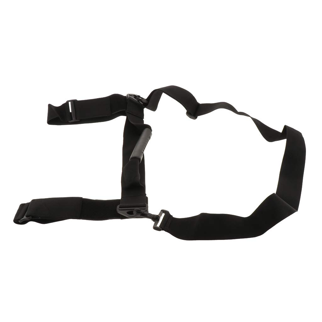 CUTICATE Heavy Duty Webbing Scuba Diving Cylinder Tank Carrier Adjustable Shoulder Strap with Rubber Handle