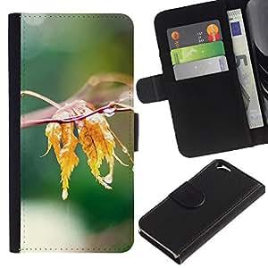 Be Good Phone Accessory // Caso del tirón Billetera de Cuero Titular de la tarjeta Carcasa Funda de Protección para Apple Iphone 6 4.7 // Nature Water Leaf