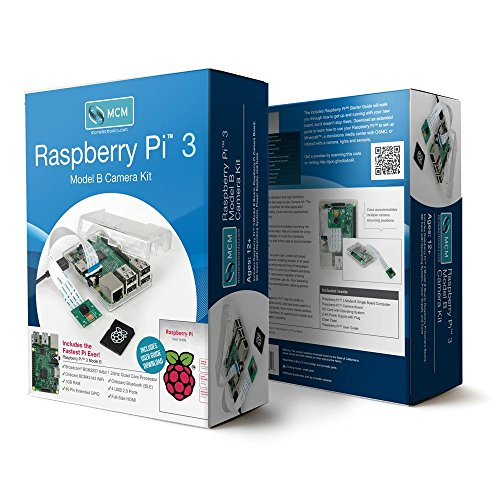 Raspberry Pi 3 Model B Camera Kit with Case, Power Supply, Operating System and HD Camera by MCM Electronics (Image #4)