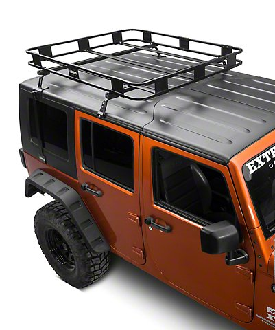 Roof Mounted Basket Rack Jeep Wrangler 2007 2017 ( 2 Or 4 Door)