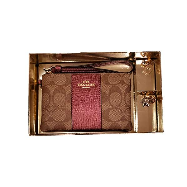 Coach-Boxed-Corner-Zip-Wristlet-with-2-Detachable-Charms