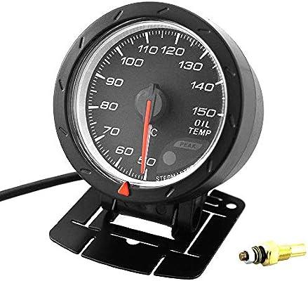 "2.5/"" 60mm Universal Car LED Oil Temperature Gauge Meter Kit Auto Oil Temp+Sensor"
