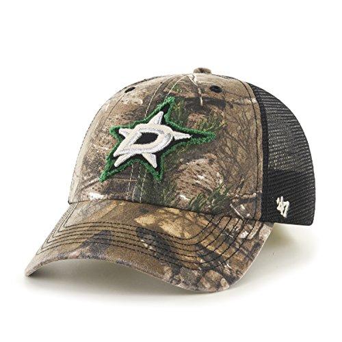 NHL Dallas Stars '47 Huntsman Closer Camo Mesh Stretch Fit Hat, One Size, Realtree Camouflage