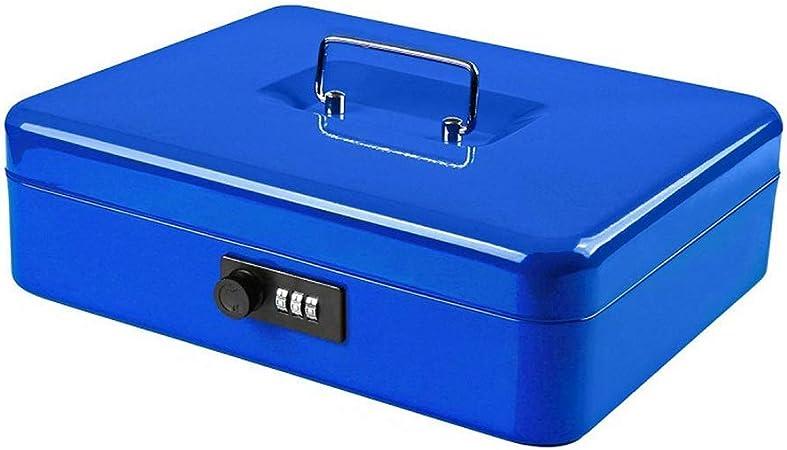 Cajas fuertes Caja fuerte pequeña de escritorio, caja de almacenamiento de metal portátil Gabinete Cerradura de contraseña desmontable de 4 capas Caja de efectivo Caja pequeña de hierro Caja fuerte Ca: Amazon.es:
