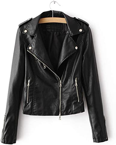 Autumn Embroidered Jacket Women Slim Vintage Pu Leather Motorcycle Short Design Zipper Black Coats