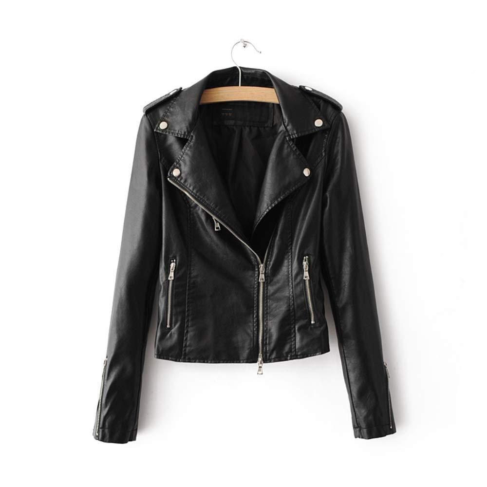 962f2ca8e LJYH Women's Zipper Motorcycle Biker Faux Leather Jackets