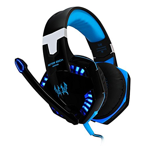 VersionTech G2000 Stereo Gaming Headset for PS4, Bass Over-Ear Headphones with Mic and LED Lights...