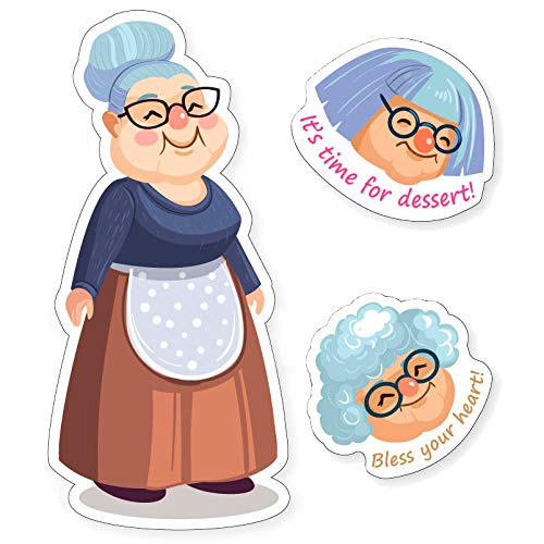 Vinyl Stickers for Water Bottles - Extra Durable 15 pcs Vinyl Aesthetic Laptop Stickers for Teens - Grandparents Day Gifts