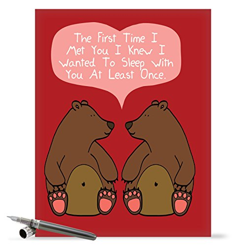 J1661VDG Jumbo Funny Valentine's Day Card: At Least Once With Envelope (Extra Large Version: 8.5'' x 11'')