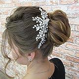 Kercisbeauty Bridal Silver Hair Comb Wedding Hair Accessories Party Prom Dancing Vintage Headpiece Headband Women