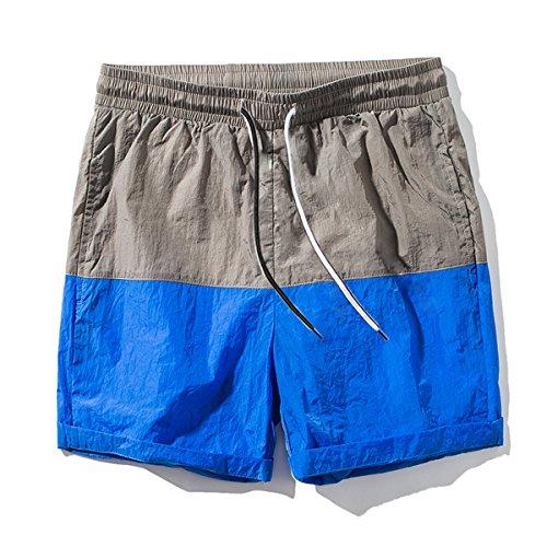 LOCALMODE Men's Quick Dry Beach Shorts Waterproof Flat Front Workout Sport Running Shorts Blue - Shorts Running America