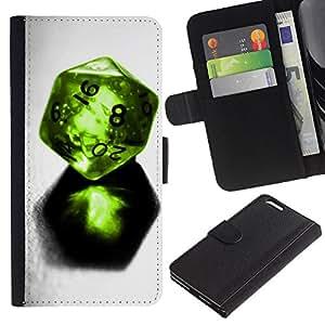 JackGot ( Disegno Dadi ) Apple (5.5 inches!!!) iPhone 6+ Plus / 6S+ Plus la tarjeta de Crédito Slots PU Funda de cuero Monedero caso cubierta de piel