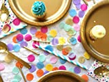 LIMITLESS Colorful Confetti - Premium 5000 Pieces 1-Inch Round Tissue Paper Confetti - Specially Crafted For Unicorn Parties