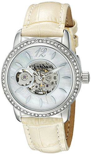 Stuhrling Original Women's 856.01 Delphi Analog Display Automatic Self Wind Champagne Watch