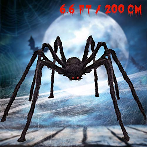 Scary Spiders For Halloween (SnowCinda Halloween Decorations, Scary Giant Spider Halloween Props for Garden Outdoor or Halloween Parties Indoor)