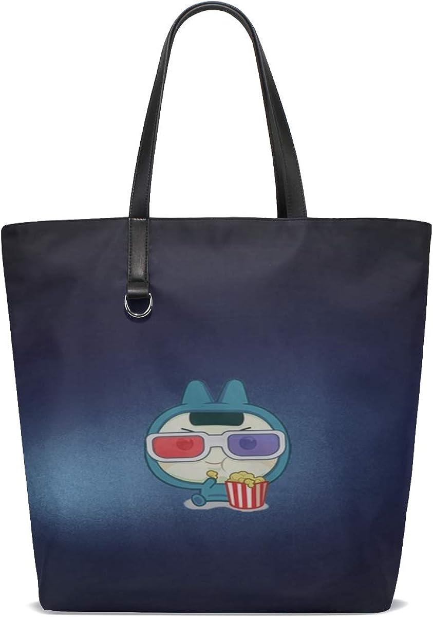 Drawing Man Popcorn Glasses Tote Bag Purse Handbag For Women Girls
